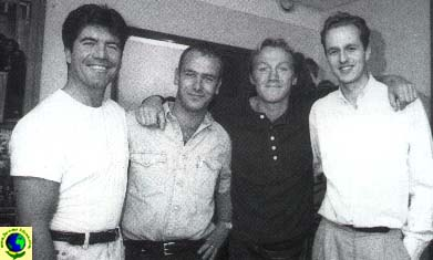 Jerome with Simon Cowell, Robson Green and Hugh Goldsmith