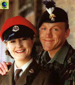 Holly Aird (as Nancy Garvey) with Jerome (Paddy Garvey)