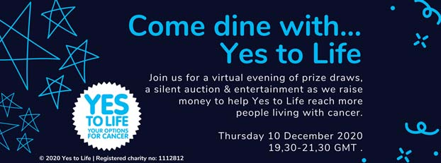 Come Dine With…Yes to Life